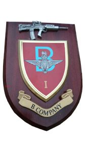 1 bn Parachute Regiment B Company Military Wall Plaque + Pewter SA80